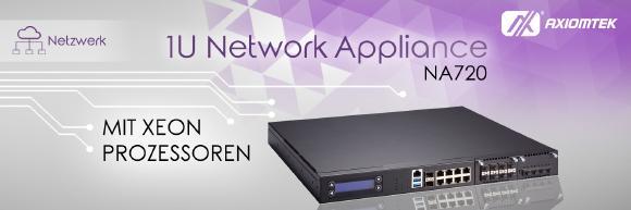 Die neue 1U Rack-Mount Netzwerk-Appliance von Axiomtek – NA720