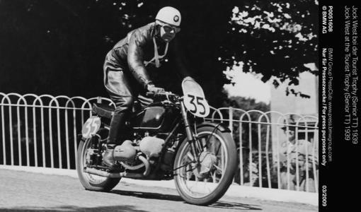 Jock West at the Tourist Trophy (Senior TT) 1939 (03/2009)