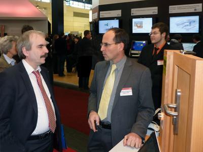 Martin Gorholt, Staatssekretär im Ministerium für Wissenschaft, Forschung und Kultur in Brandenburg, im Gespräch mit Elegate