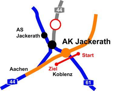 Bohrtrasse unter der A 61, 388 m lang