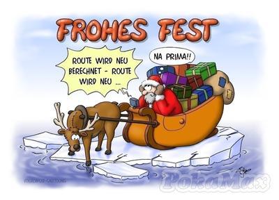 Weihnachtskarte witzig (Beispiel)