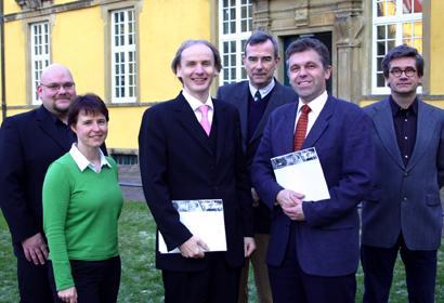 von links nach rechts: Herr Tobias Thelen, Frau Dörthe Schwaß, Herr Martin Leitner, Herr Haarmann (hinten), Herr Hötker, Herr Knaden