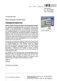Presseinfo PDF PicoCube Extrem präzise: Positioniersystem Nanotechnologie