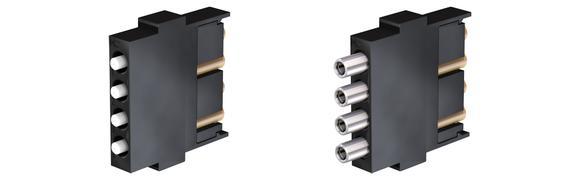 Connectors for glass optical fibre cables