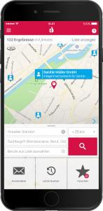 Handwerkerradar  iphone Suchmaske
