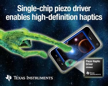 TI stellt den branchenweit am höchsten integrierten piezo-haptischen Treiberbaustein vor
