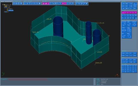 Nach Ausrichten auf der Messplatte werden zunächst Punkte getastet für die Konstruktion der regelgeometrischen Anteile der Schnittbacke