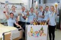 """Auch dank der großzügigen Spende von TORWEGGE heißt es wöchentlich auf 31 Kinderkrebsstationen """"Fruchtalarm"""". (Foto: Fruchtalarm)"""