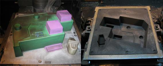 Anwendung von Bentogliss ® 121 in der Praxis. Durch die saubere Trennung der Form vom Modell liefert die Anwendung des Trennmittels im Ergebnis einwandfreie Oberflächen.