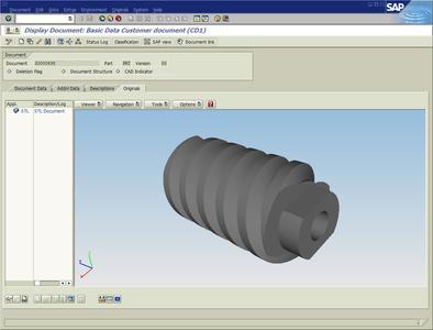 Beispiel aus der OECHSLER AG Datenbank für verschiedene CAD Modelle des Zulieferers