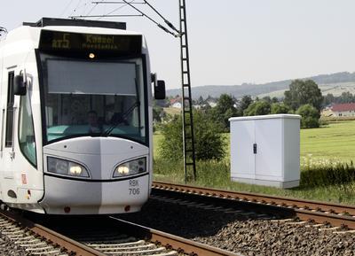 """Mit seinem Programm """"Rittal – Das System."""" stellt Rittal auf der InnoTrans 2012 effiziente Systemlösungen für die stationäre Bahn-Infrastruktur vor, Foto:  Rittal GmbH & Co. KG"""