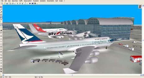 Flughäfen, wie London Heathrow T5, Bangkok und Auckland, haben VISSIM bereits eingesetzt