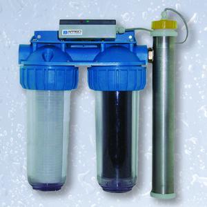 Das Regenwasser-Entkeimungs-System RES von AFRISO sorgt für sauberes Regenwasser, z.B. für das Wäschewaschen mit der Waschmaschine.