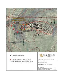 U.S. Gold Corp. Expands Copper King Mineralized Zone Through 2018 Drilling Exploration Program