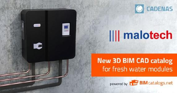 malotech relies on CADENAS technology for digital BIM CAD data of its fresh water modules