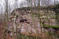 "Hilbersdorf porphyry tuff in the ""Ratssteinbruch"" quarry Chemnitz"