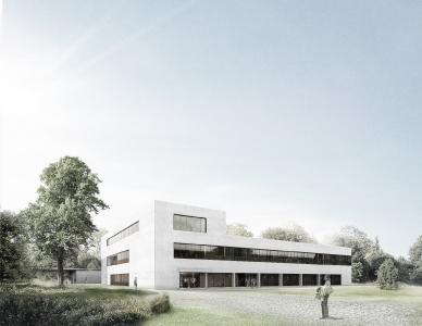 Ein Modell des neuen Forschungsgebäudes LASE / Quelle: LBB Niederlassung Kaiserslautern / P+B R. Becker Architekten GmbH Berlin