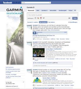 """""""Garmin D"""" auf Facebook"""
