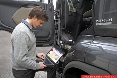 Die Analysesoftware Optifuel Infomax von Renault Trucks hilft, die Kraftstoffeffizienz zu beurteilen.