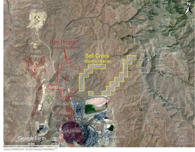 Ridgeline Minerals Signs Bell Creek Surface Access Agreement with Nevada Gold Mines