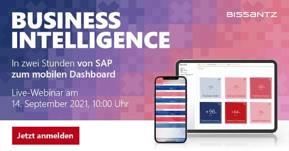 Business Intelligence mit den Bissantz ERP Solutions: In zwei Stunden von SAP zum mobilen Dashboard.