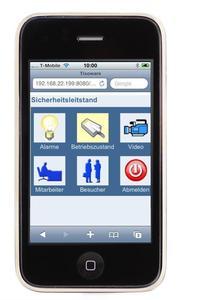 tisoware Sicherheitsleitstand auf dem Apple iPhone