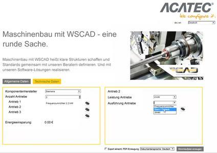 Der Produktkonfigurator von ACATEC kann über das WSCAD Automation Interface die Erstellung von Schaltplänen mithilfe der WSCAD SUITE auslösen