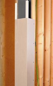 Holz- und Metallständer, Stahlstützen und Wandecken lassen sich mit Schmitt-Faltgips schnell und exakt ummanteln. (Foto: Formteilbau Schmitt GmbH & Co.) KG, Gemünden am Main; www.formteilbau-schmitt.de)