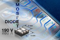 Vishay Siliconix Releases Industry's First 190-V N-Channel Power MOSFET Plus 190-V Co-Packaged Power Diode with Compact 2-mm by 2-mm Footprint and Low 0.75-mm Profile