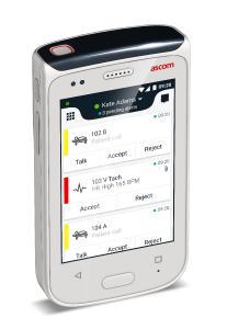 Ascom Myco 2 mit Alarmübersicht
