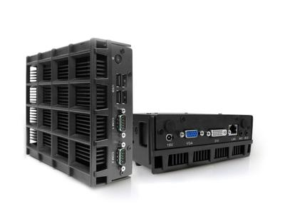 Fanless Mini-PC with 1.65 GHz Dual Core Processor and ATI HD-Graphics - ideal for Digital Signage and 3D