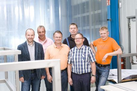 von links nach rechts: Torsten Thom, Carsten Rosebrock, Manfred Thom, Jann Schwecke, Frank Liebich, Kai-Uwe Schwiebert (Foto: EWM AG)