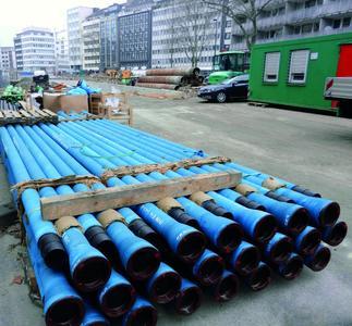 Für die Löschleitungen der Tunnels unter dem Kö-Bogen lieferte Duktus insgesamt 2.440 Meter duktile Gussrohre DN 100