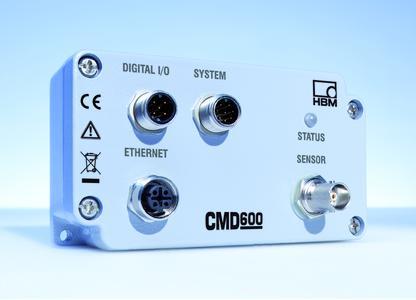 Der digitale Ladungsverstärker CMD600 von HBM erfasst die Signale piezoelektrscher Sensoren und eignet sich besonders für sehr schnelle Messungen mit Frequenzen bis zu 30 kHz