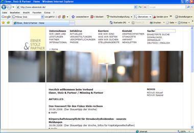 Ebner, Stolz & Partner: Relaunch der Website mit neuester Version SixCMS 7.1