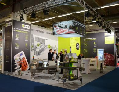 Sesotec's IFFA 2019 trade fair appearance was centered on X-ray systems and services. (Photo: Sesotec GmbH)