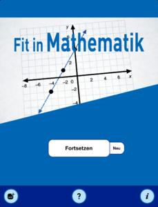 Startscreen Mathematik