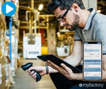 Das mobile Lager – mit der Cloud Lösung von Myfactory kann das für viele kleine und mittlere Unternehmen Realität werden. (Quelle: Myfactory)