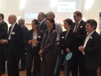 Der Workshop im Rahmen der Mitgliederversammlung des Spitzenclusters MAI Carbon lud die rund 70 Teilnehmer zum Mitmachen ein