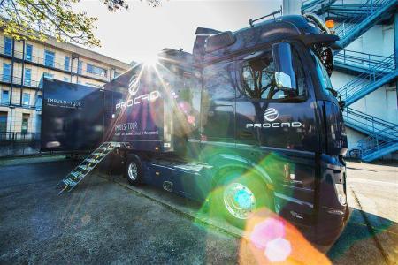 """""""Zweieinhalb Jahre lang brachte der PROCAD-Truck voller PLM-Wissen """"Digitalisierung auf die Straße"""" – eine tolle Erfolgsstory! / Foto: PROCAD"""