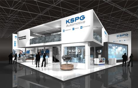 Sketch of KSPG's stand at IAA 2015