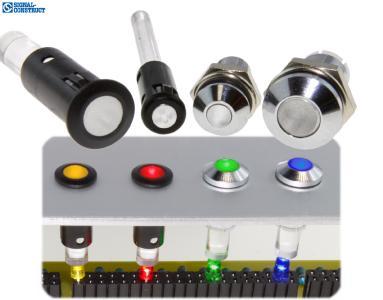 Lichtleiter für Frontplattenmontage von Signal-Construct.
