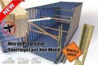 Non-Wood-Querriegel aus LVL (Laminated Veneer Lumber) Furnierschichtholz zur Ebenenbildung und Ladungssicherung