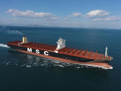 DNV GL welcomes MSC Oscar, world's largest boxship, to fleet