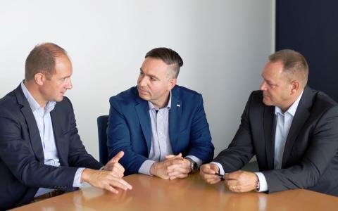 Sandro Canneori, Walter Pillittu und Alexander Beer von SIX Payment Services