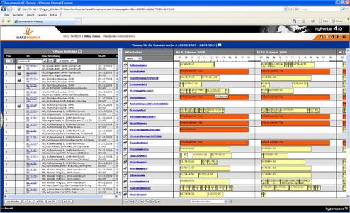 Screenshot: Einsatzplanung