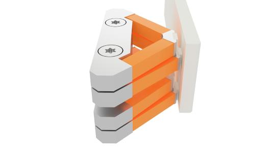 PICMA® actuators aligned in the shape of a V ensure reliable and very exact feed motion with a holding force of up to 60 N, 50 N push/pull force and a velocity up to 15 mm/s (Source: PI)