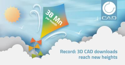 Nuovo record di download - CADENAS registra 38 milioni di download di modelli CAD 3D in un mese