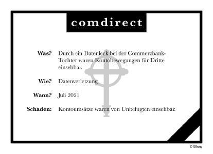 Todesanzeige Comdirect Juli 2021