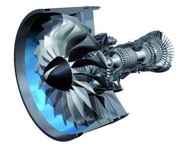 FAG Aerospace ist der führende Entwicklungspartner für leistungsgesteigerte, effizientere und umweltfreundliche Lagersysteme für Flugzeug- und Hubschraubermotoren der nächsten Generation, wie etwa das von Pratt & Whitney mit MTU Aero Engines entwickelte PW1000G Getriebe-Turbofantriebwerk / Bild: MTU Aero Engines